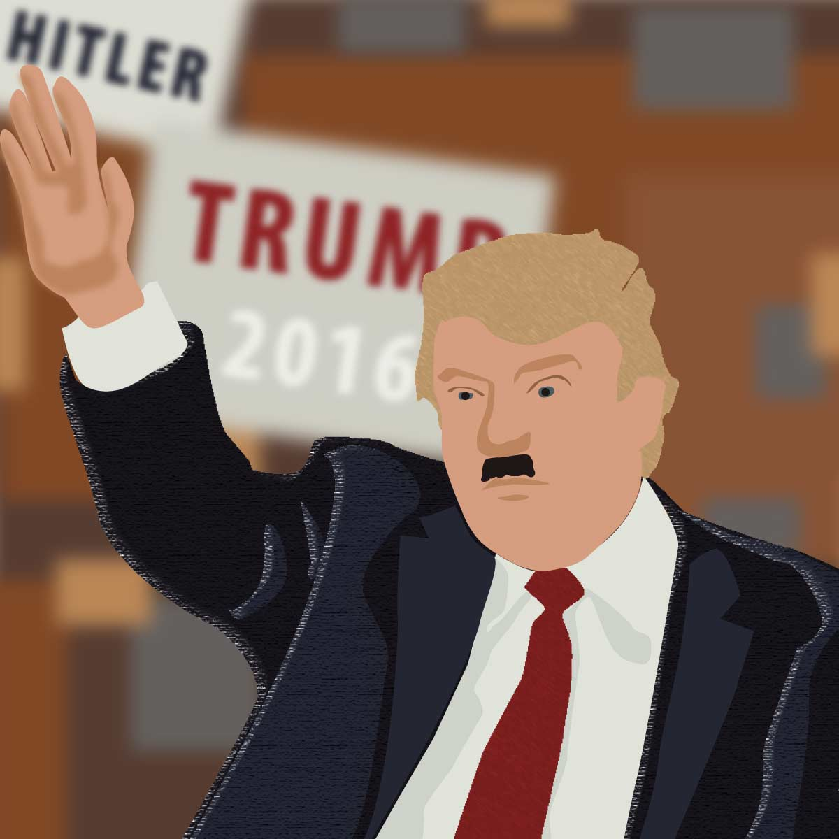 Donald Trump mustache illustration